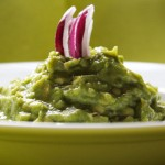 Mashed avocado crisp red onion almost as in Cameroon
