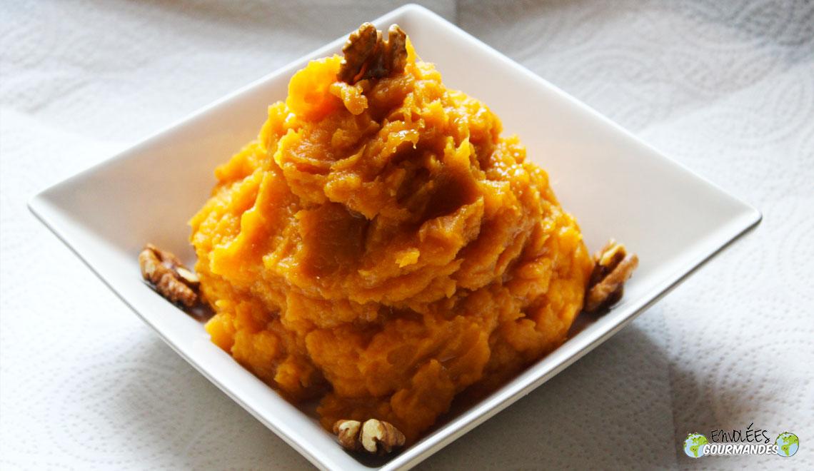 Écrasée de patates douces à l'huile de noix