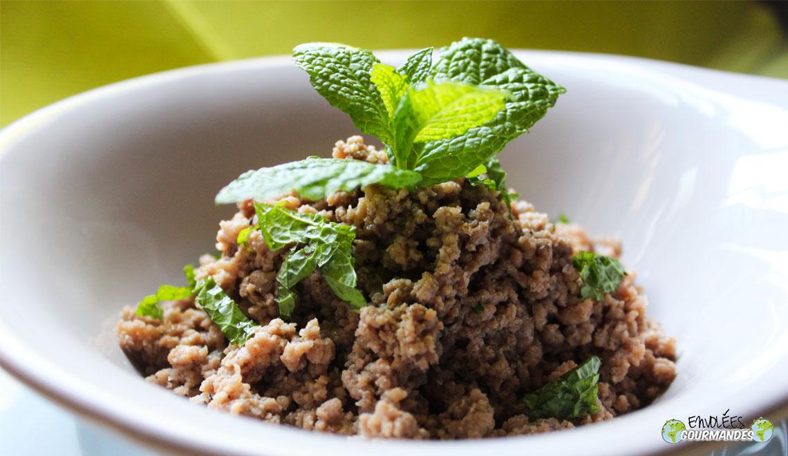 Boeuf- hortelã-alho caldo de legumes semolina