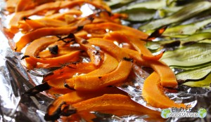 Lasagna-Zucchini-Kürbis-Tomaten-Thymian-Emmentaler und Mozzarella