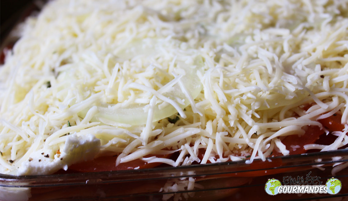 Lasagnes aux légumes grillés pour un jeune homme