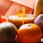 Bancas de frutas aveludada