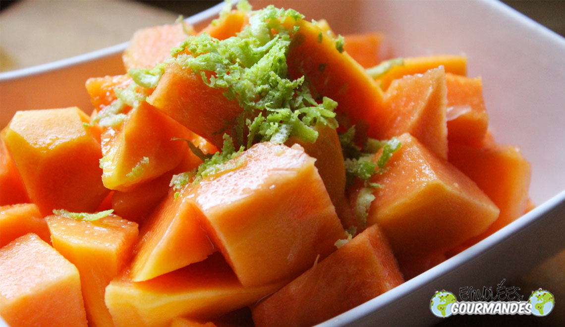 färska papaya, nästan som om det
