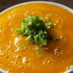 Sopa de mango con cal