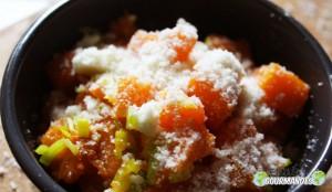 Potiron- porro- parmesan-huile de noix