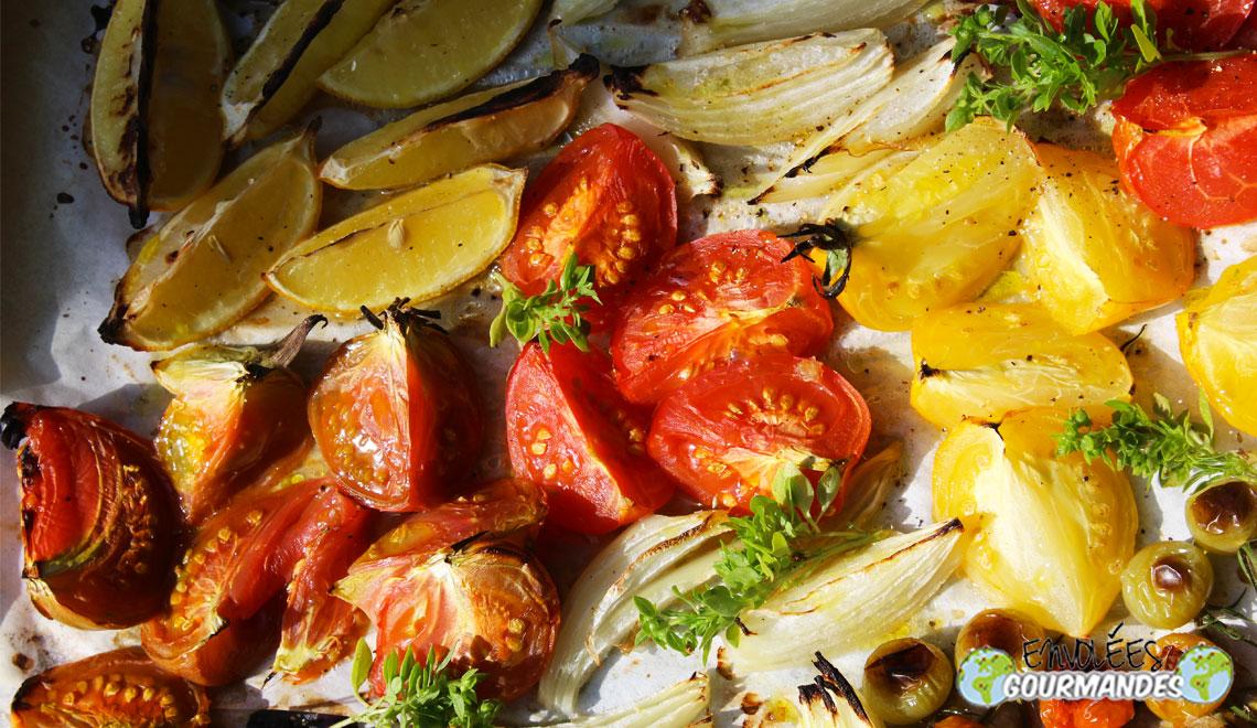 Tomates grill es au four parfum es l huile d olive au - Chataignes grillees au four ...