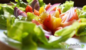 Salada pequena verão