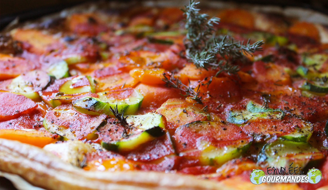 ピザのような夏のパイ