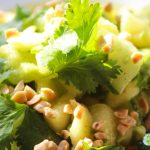 Pineapple, avocado and cucumber salad pepper Penja *