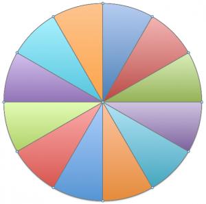 Pâte feuilletée divisée en 12 parts