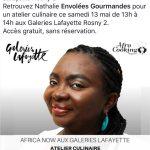Atelier culinaire samedi 13 mai, Galeries Lafayette Rosny 2
