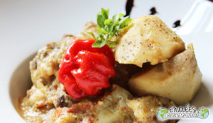 Stewed goat cocoyam and spices for meat ZESOK