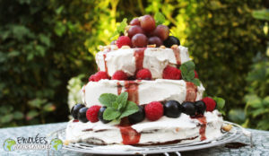 Gâteau de fête Mamie Coco et son sirop de foléré (fleurs d'hibiscus, bissap)  -  (面筋)