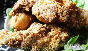 Mieux qu'au KFC, mes pilons de poulet au Gari, citron, Mejor que KFC, mis baquetas en Gari, cidra, aromates et épices et épices