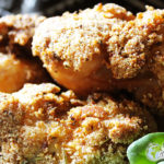 DFC (Douala Fried Chicken) olive oil, meine Keulen in Gari, Zitrone, Kräuter und Gewürze