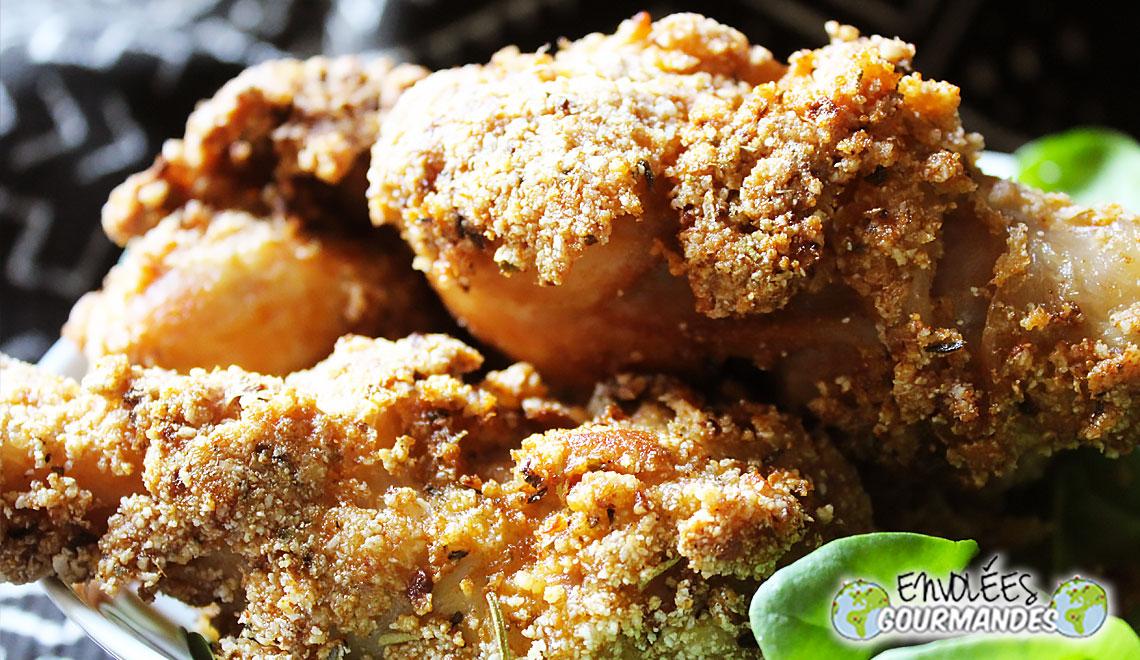Mieux qu'au KFC, mes pilons de poulet au Gari, Citron, aromates et épices