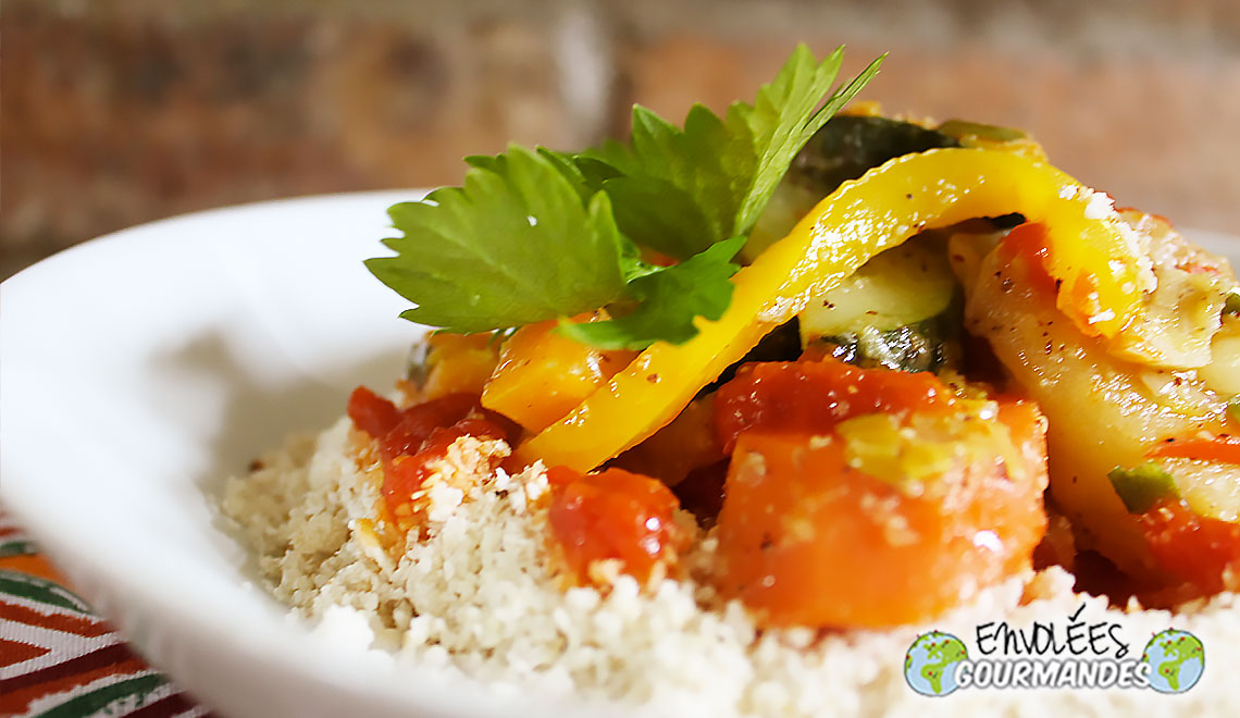 加里蒸粗麦粉加辣蔬菜