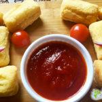 Croquettes d'igname au maïs et leur ketchup maison