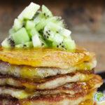 Pancakes de fonio et banane à la farine de patate douce