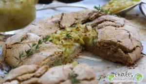 Tarte rustique triple Ba à la farine de patate douce