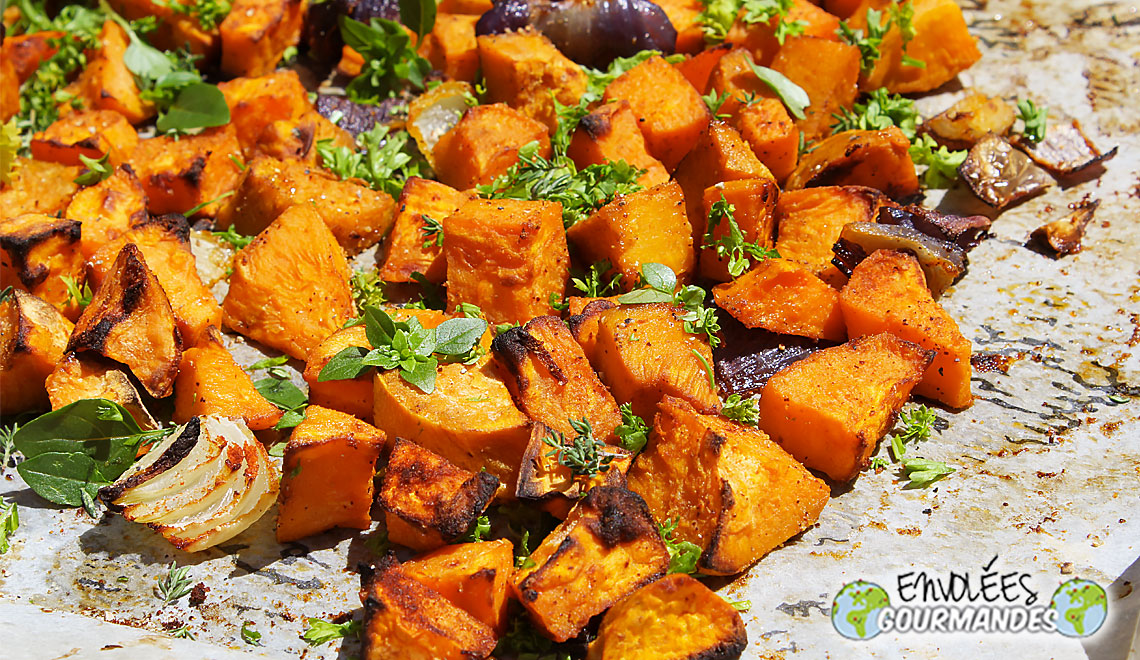 My sublime roasted and fragrant sweet potatoes